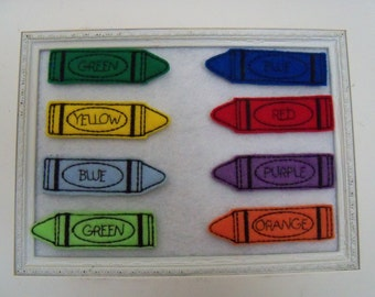 Crayon Felties 8 Colors to Choose From Mix and Match Always Precut