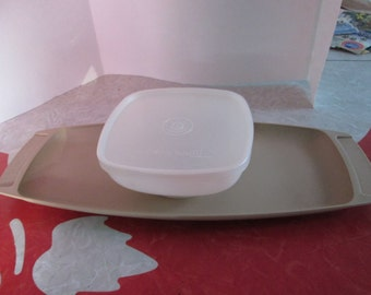 Tupperware Snack/Appetizer Tray With Bowl