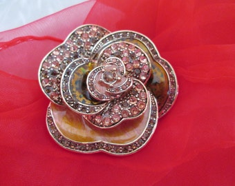 Liz Clairborne Enamel Flower Brooch