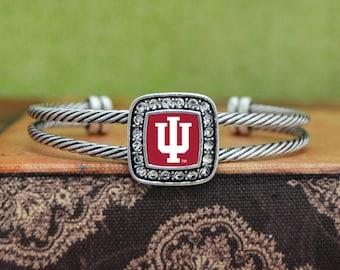 Indiana Hoosiers Square Cuff Bracelet