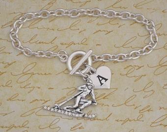Custom Initial Skiing Bracelet