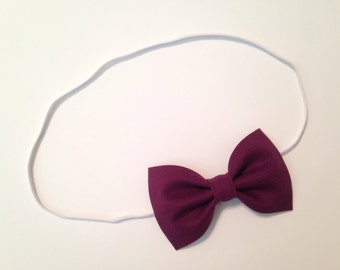 Plum Purple Bow Headband