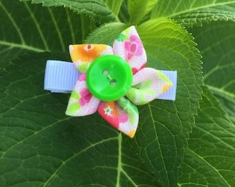 Button Flower Hair Clip - Small