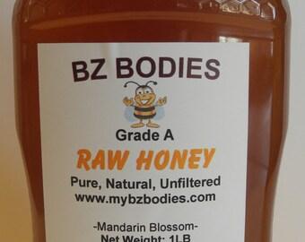 Mandarin Orange Finest Raw Honey-Pure, Natural, Unfiltered, Grade A