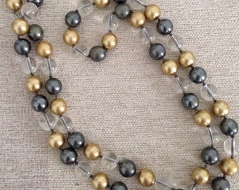 "Vintage Retired - QVC - Joan Rivers Beaded Necklace - Early 1990's - 30"" Long"