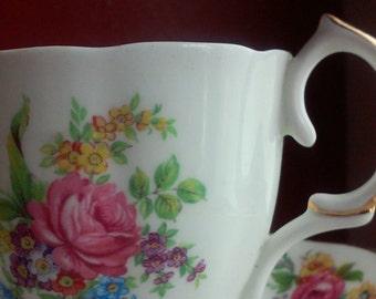 Vintage tea cup and matching saucer by Jason Bone China, Made in England,English Bone China,fine china