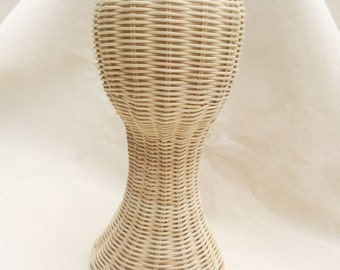 Hand made mannequin Head - Rattan Wig Stand -Hat Display stand - Wig Head Stand -  Rattan mannequin Head