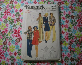 OOP Butterick Sewing Pattern 3356 Size 18 misses dress, tunic and pants