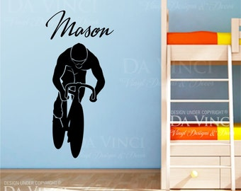 Bicycle Wall Decal Etsy - Custom vinyl decals for bicycles