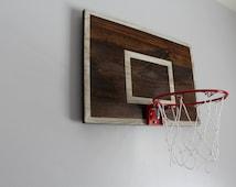 Vintage Designed Basketball Backboard With Rim Wall Decor