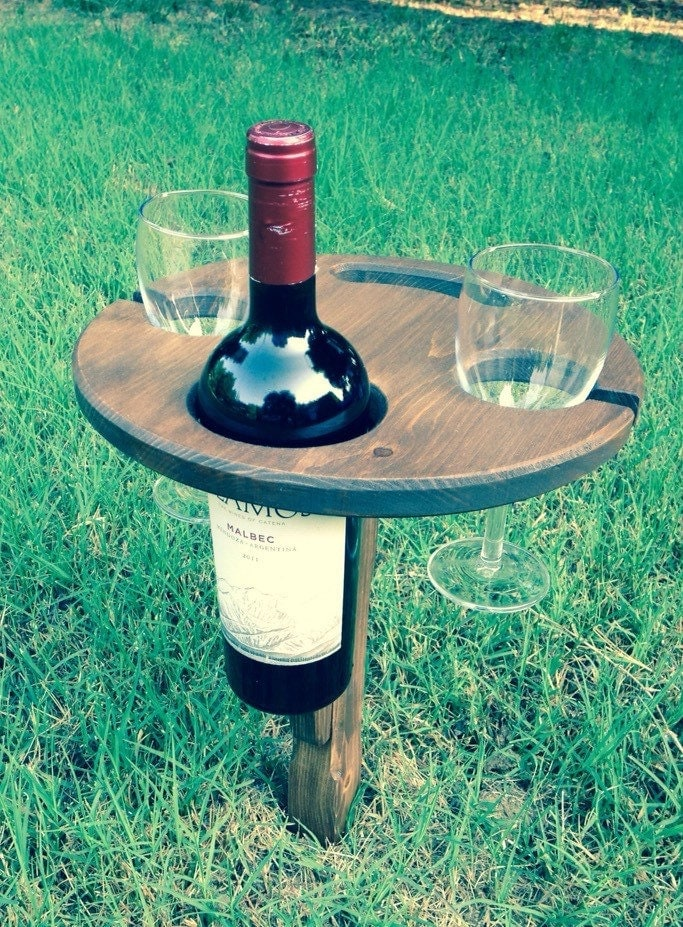 folding outdoor wine table picnic table by hoffmasterwoodworks. Black Bedroom Furniture Sets. Home Design Ideas