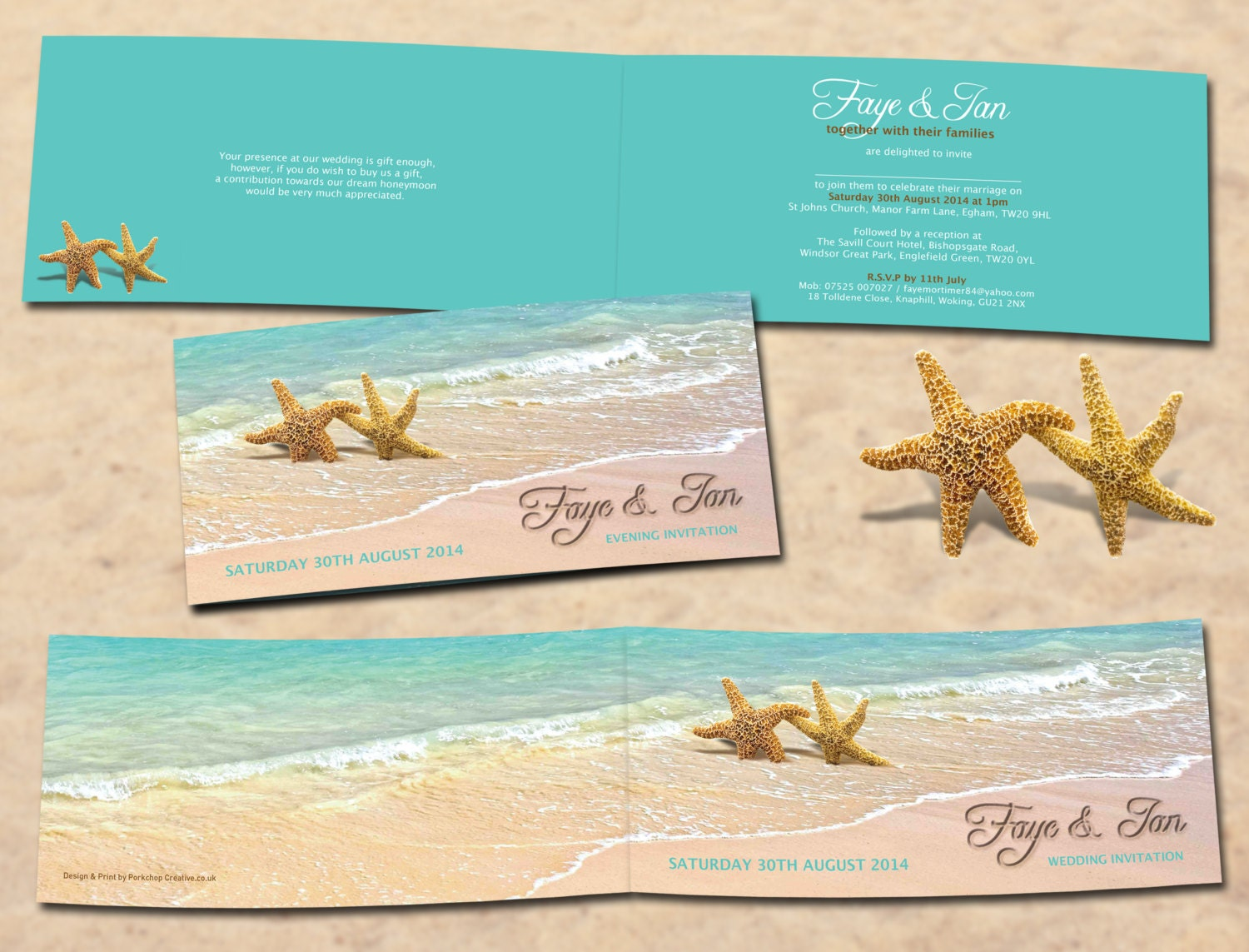 Beach Themed Wedding Invitations Templates: Beach Theme Wedding Invitations Printable Digital Only