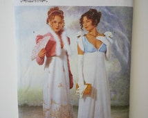 Pride and Prejudice / empire waist /gibson girl / steampunk costume/ dress 2000 sewing pattern, Bust 34 36 38, Size 12 14 16, Butterick 6631