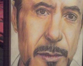 Hand drawn Robert Downey Jr drawing