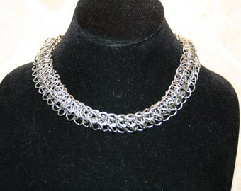 Stainless Steel Chain Maille Necklace