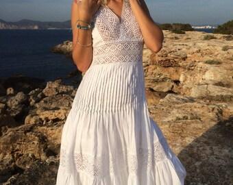 The long white Ibiza dress summer sale !