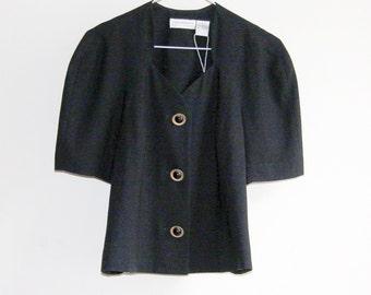 Vintage 90s Liz Claiborne Top Blouse Jacket (S/M)