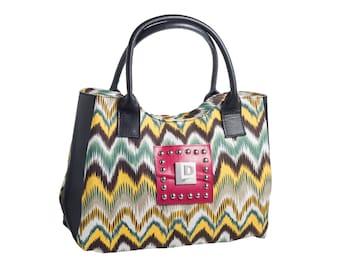 On Sale- Landfill Dzine Upcycled Canvas Tote Handbag Purse