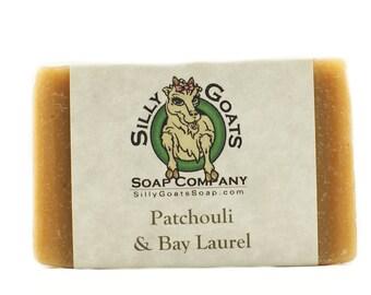 Patchouli Soap, Patchouli Bar Soap, Hand Soap, Laurel Soap, Laurel Oil Soap, Patchouli & Bay Laurel Soap