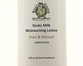 Goat Milk Lotion, Goats Milk Lotion, Unscented Lotion, Skin Moisturizer