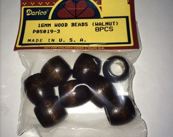 Wholesale 8 PC 16mm Walnut Wood Beads (6-Packs) #P05019-3