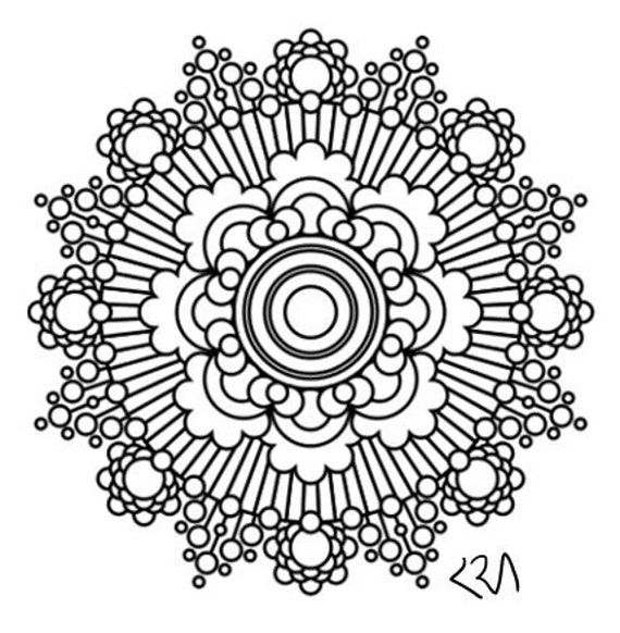 intricate mandala coloring pages free - photo#38