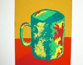 "The Morning Cup of Coffee #97 (ARTIST TRADING CARDS) 2.5"" x 3.5"" by Mike Kraus Free Shipping"