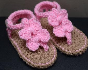 Crochet Baby sandals, Baby girl sandals, Crochet baby shoes, Baby girl shoes, Crochet infant sandals