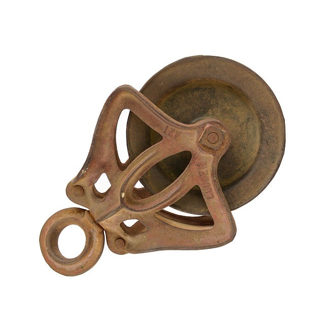 Pulleys And Blocks For Sale : Antique pulley louden block and tackle by