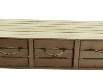 Rustic Wooden Crate Drawer Set