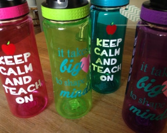 Teacher water bottles - teacher gift - end of year gift - thank you - christmas gift