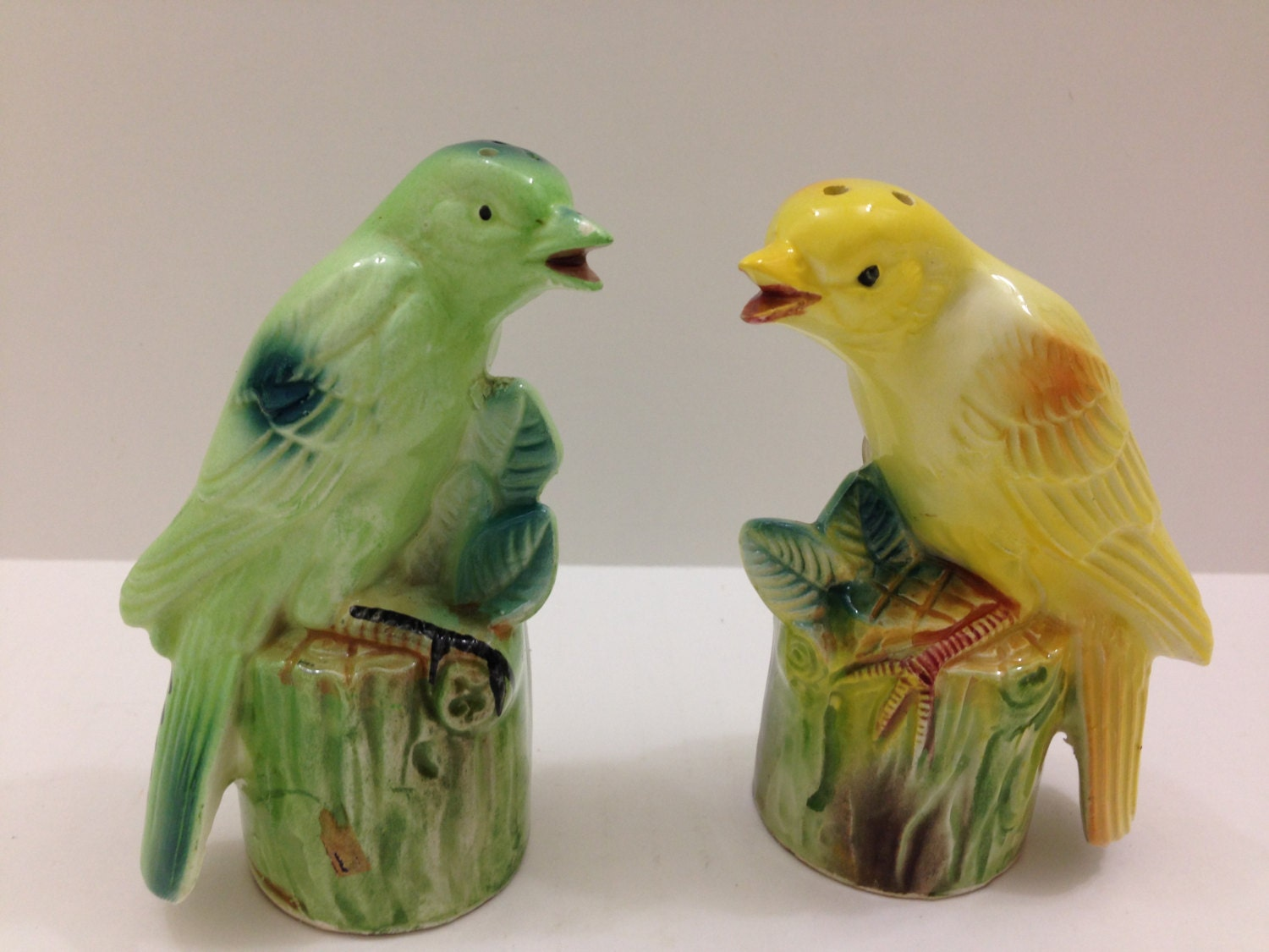 Vintage Bird Salt Amp Pepper Shakers With Squeakers Made In