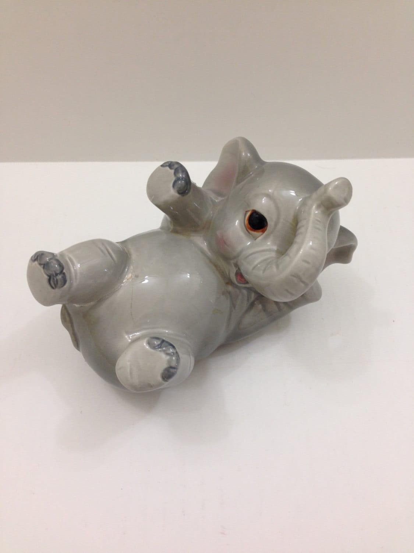 Norcrest ceramic baby elephant piggy bank - Ceramic elephant piggy bank ...
