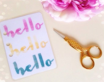 Hello ...laminated quote card