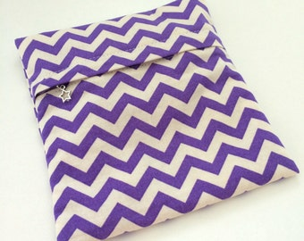 Purple Chevron Cloth Pads Wetbag