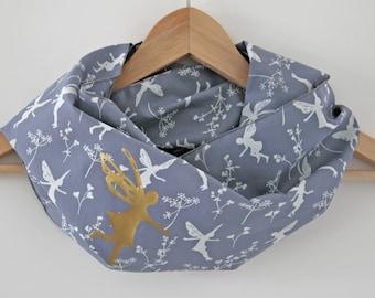 "Nursing cover scarf ""elf"" (100% organic cotton) /infinity scarf"