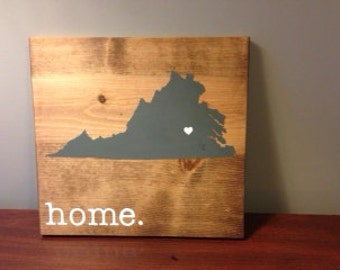 Virginia Wood Sign, State Sign, Custom Wood Sign, Pallet Sign, Personalized  Wood