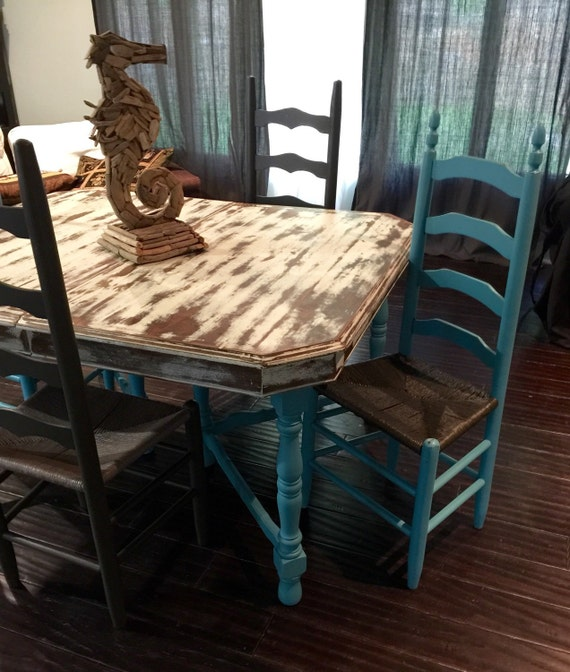 service ad shabby chic dining room table set is sold let. Black Bedroom Furniture Sets. Home Design Ideas