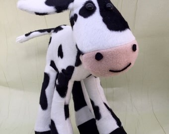 Cow Soft Toy Sewing Kit.   Softie Plushie Pattern