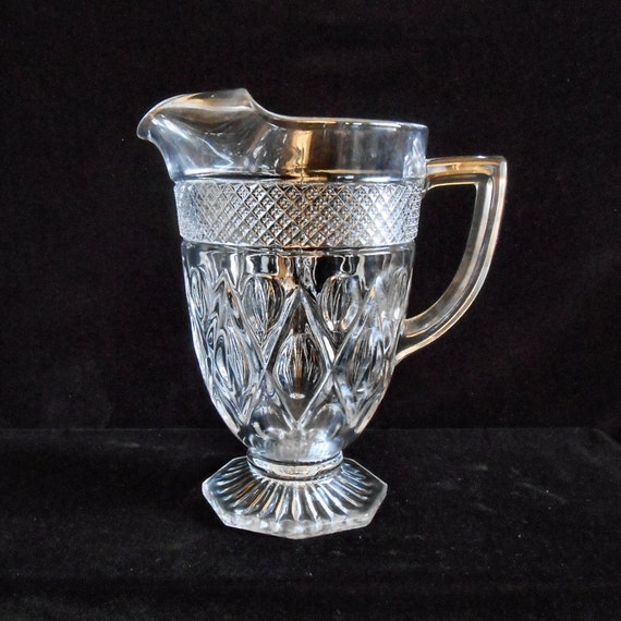 Imperial Glass Large Water Pitcher In The Crystal Cape Cod