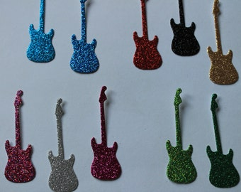 50 Electric Guitar Confetti Die Cuts