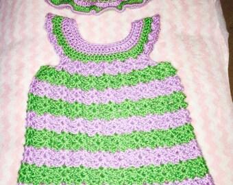 Spring/Summer dress and hat set