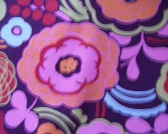 "Funky Floral Fabric, 45"" cotton blend"