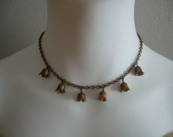 Vintage Bluebell Necklace