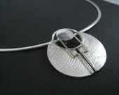 Designer Jewellery - Cameleor Collection - The Sands of Isis - Silver/Argentium Pendent + Silver Snake necklace