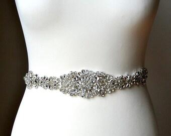 Luxury Crystal Bridal Sash,Wedding Dress Sash Belt Rhinestone Sash Bridal Bridesmaid Sash Belt, Wedding dress sash