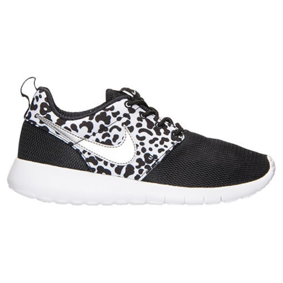 Black And White Cheetah Print Tennis Shoes
