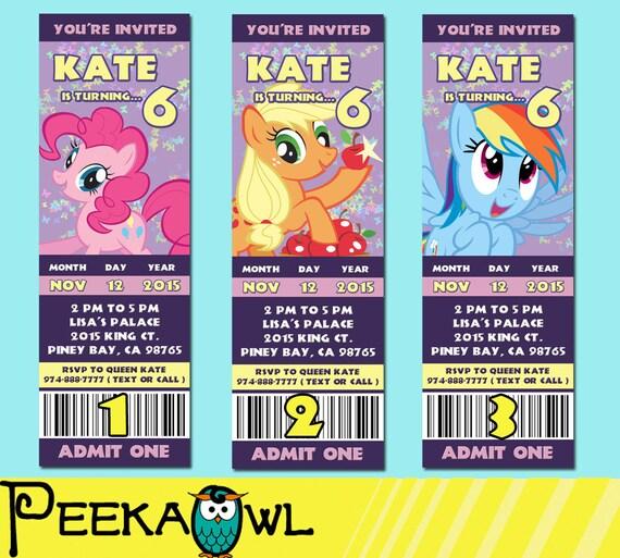Free My Little Pony Birthday Card Printable