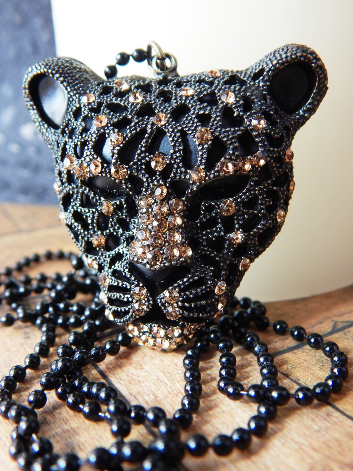 black panther necklace mens cheetah jewelry by