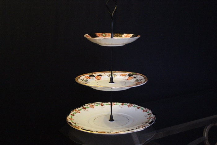 Cake Stand Home Decor : 3 tier cake stand. vintage home decor jewellery stand home